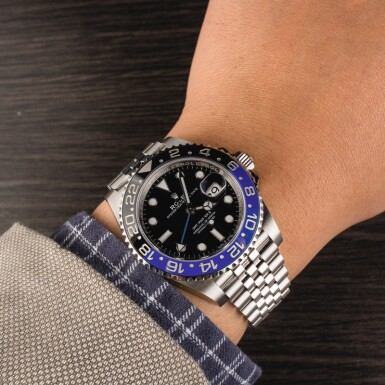 View 4. Thumbnail of Lot 6. ROLEX | GMT Master II, Ref. 126710BLNR, A Stainless Steel Wristwatch with Bracelet, Circa 2019.