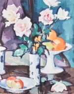 Still Life with Roses, Oranges and Apples