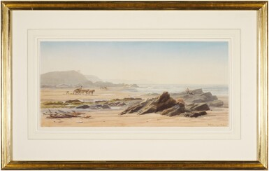 View 2. Thumbnail of Lot 223. Seaweed gatherers on the beach, Guernsey.