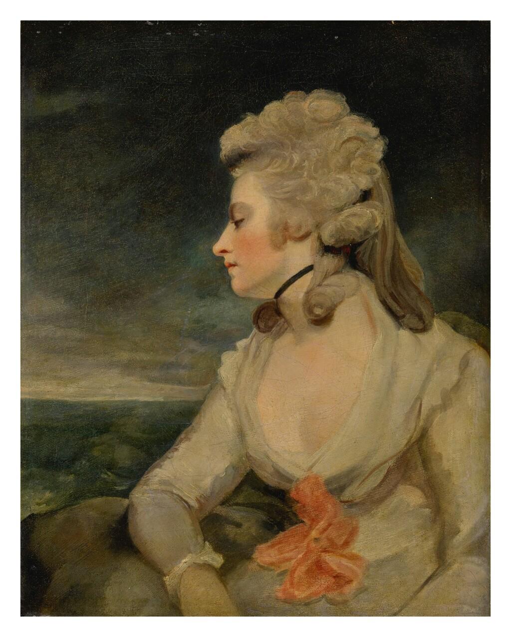 STUDIO OF SIR JOSHUA REYNOLDS, P.R.A.   PORTRAIT OF MRS. MARY ROBINSON