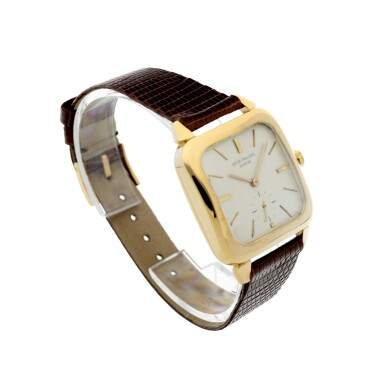 View 3. Thumbnail of Lot 143. REFERENCE 2540 A YELLOW GOLD SQUARE AUTOMATIC WRISTWATCH, MADE IN 1957.