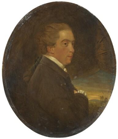 "JOHN DOWNMAN, A.R.A.   ""Portrait of Edmund Burke (1729/30–97); Portrait of Richard Brinsley Sheridan (1751–1816)"""