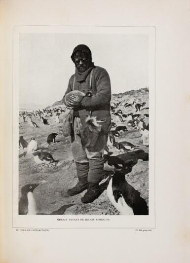 View 1. Thumbnail of Lot 190. SHACKLETON. Au cœur de l'Antarctique... Hachette, 1910. In-8. Reliure de Petitot. Première édition française..