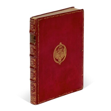 View 1. Thumbnail of Lot 159. Laborde, Choix de chansons, Paris, 1773, red morocco with arms of Tsar Paul I.