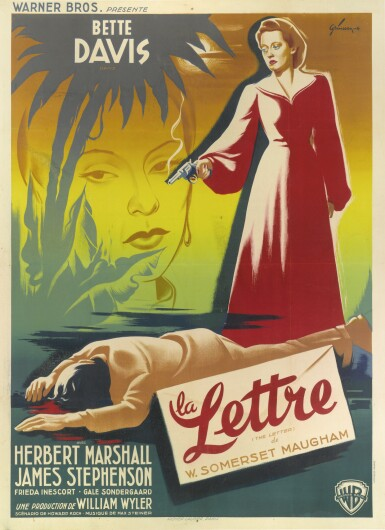 The Letter / La Lettre (1940) poster, French