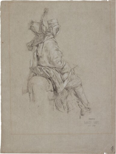 View 1. Thumbnail of Lot 70. An Arab on horseback.