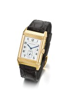JAEGER-LECOULTRE   REVERSO REF. 270.2.54 A PINK GOLD RECTANGULAR REVERSIBLE DUAL TIME WRISTWATCH WITH DAY AND NIGHT INDICATION CIRCA 2000
