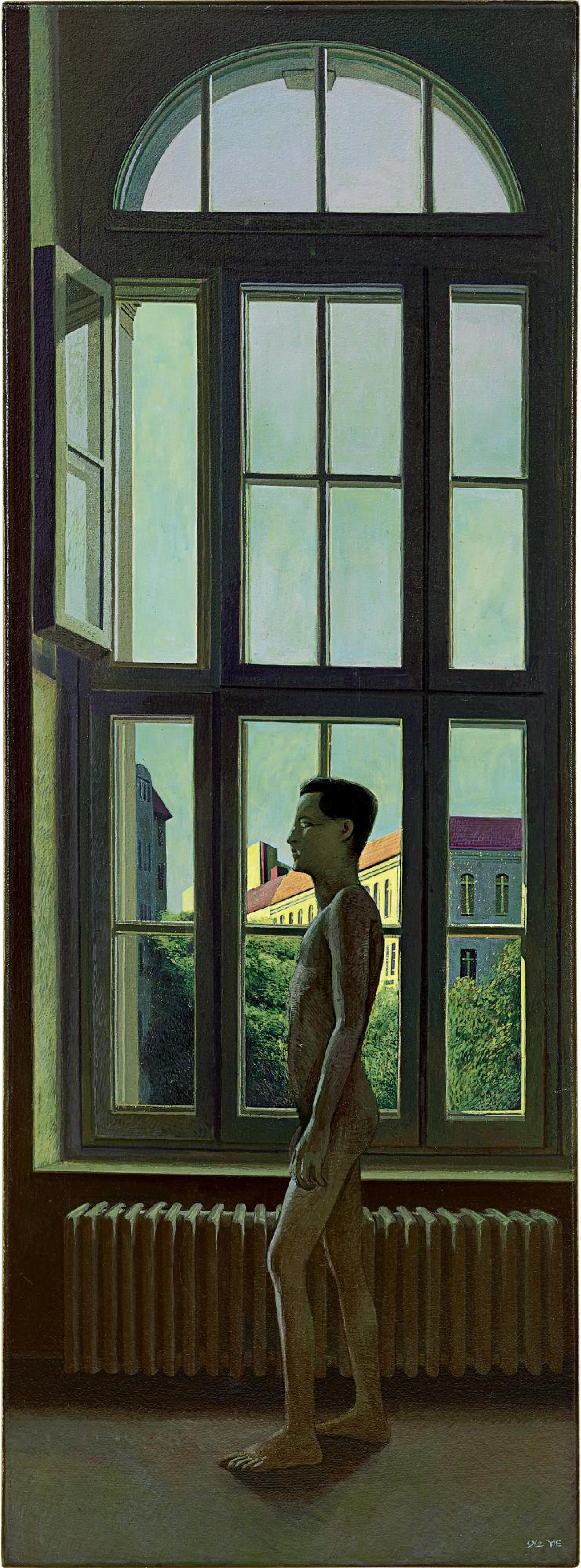 View full screen - View 1 of Lot 594. LIU YE 劉野   RED ROOF 紅屋頂.
