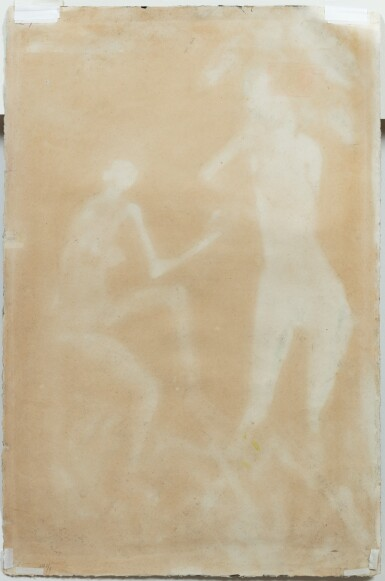 View 3. Thumbnail of Lot 48.  OTTO MÜLLER   ZWEI WEIBLICHE AKTE AM BAUM (TWO NUDES AT A TREE).