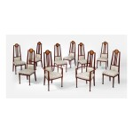 GEORGE MONTAGUE ELLWOOD | SET OF TEN DINING CHAIRS