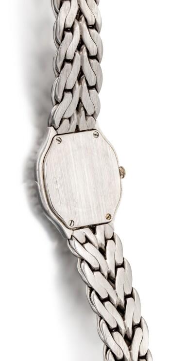 View 3. Thumbnail of Lot 8087. PATEK PHILIPPE | LA FLAMME, REFERENCE 4815/3 | A WHITE GOLD AND DIAMOND-SET BRACELET WATCH, CIRCA 1990 | 百達翡麗 | La Flamme 型號4815/ 3 白金鑲鑽石鏈帶腕錶,約1994年製.