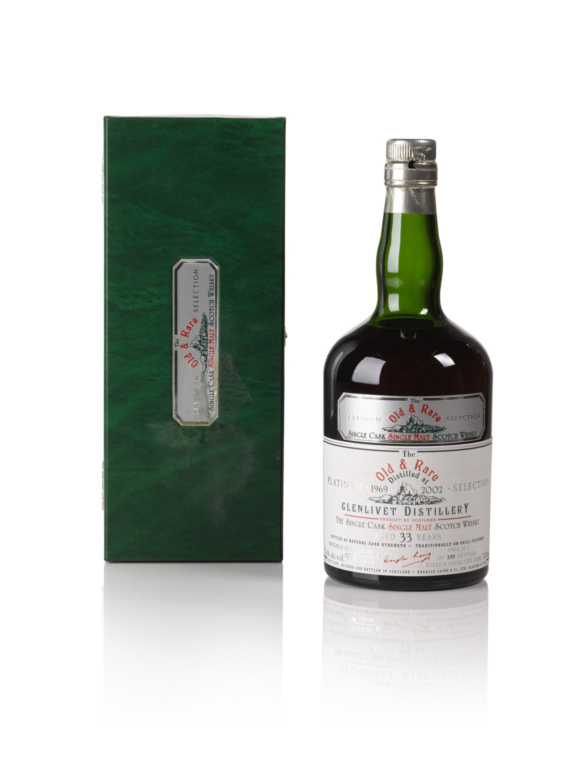 View full screen - View 1 of Lot 160. Longmorn Douglas Laing 33 Year Old Old & Rare Platinum Selection 57.4 abv 1969 .