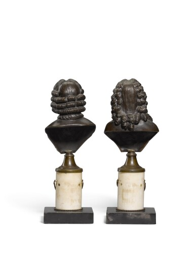 View 3. Thumbnail of Lot 98. French, 19th century, Busts of Voltaire and Rousseau.