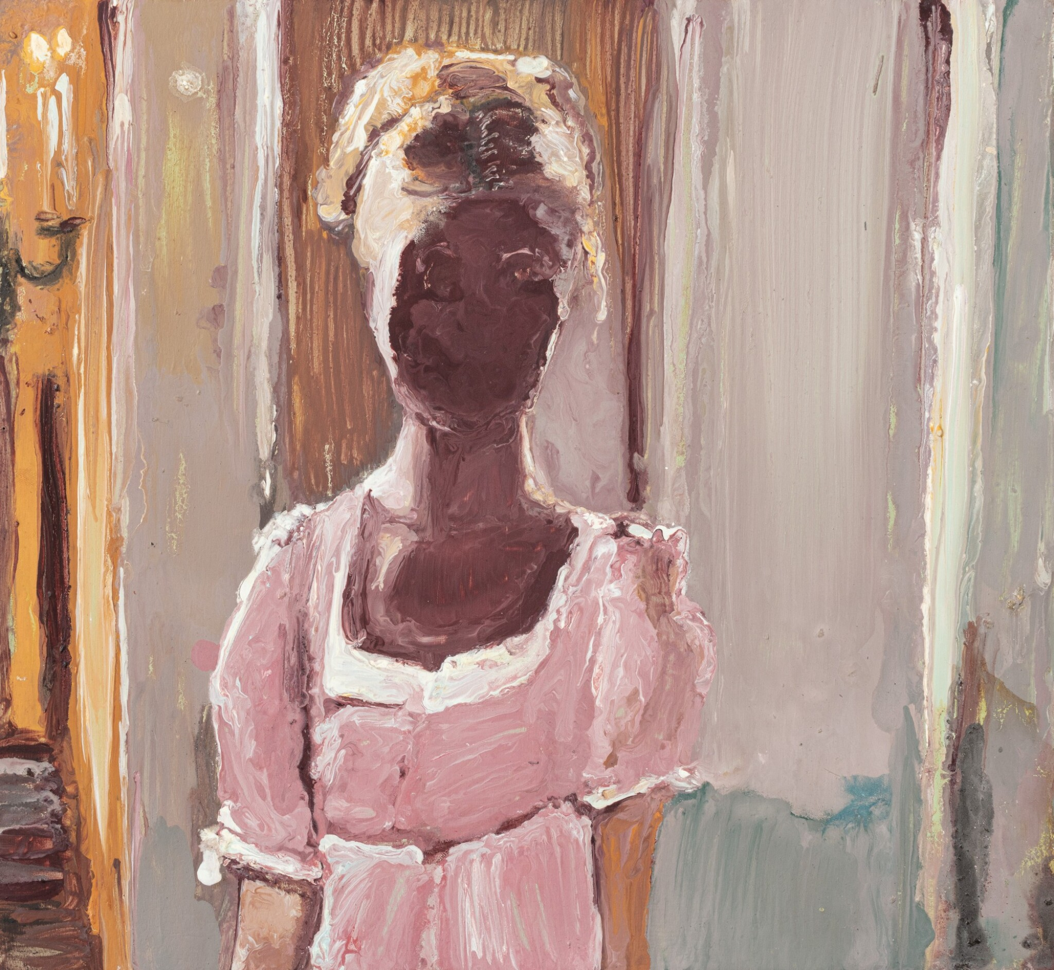 View full screen - View 1 of Lot 7.  GENIEVE FIGGIS | LADY IN A PINK DRESS.