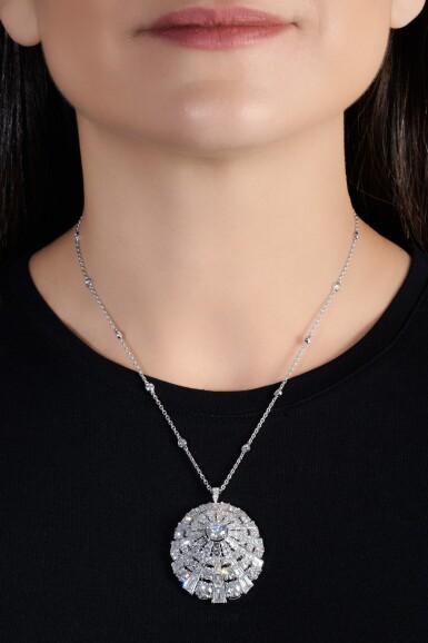 View 4. Thumbnail of Lot 645. Graff | Diamond pendent necklace | 格拉夫 | 鑽石吊墜項鏈.