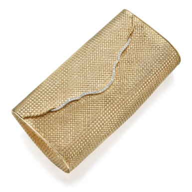 GOLD AND DIAMOND EVENING BAG