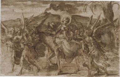 View 1. Thumbnail of Lot 218. The Flight into Egypt.