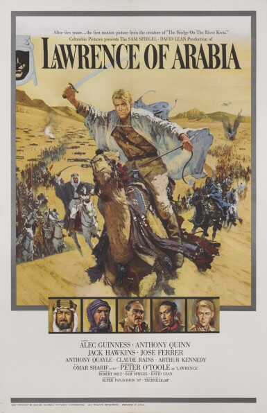 LAWRENCE OF ARABIA (1962) POSTER, US