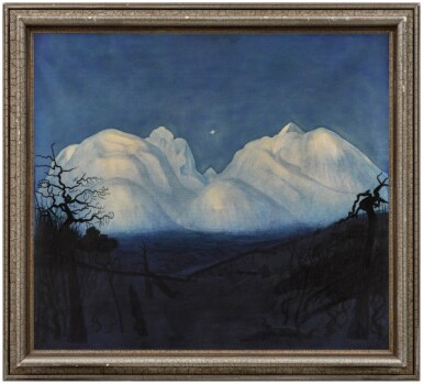 View 2. Thumbnail of Lot 11. Winter Night in the Mountains.