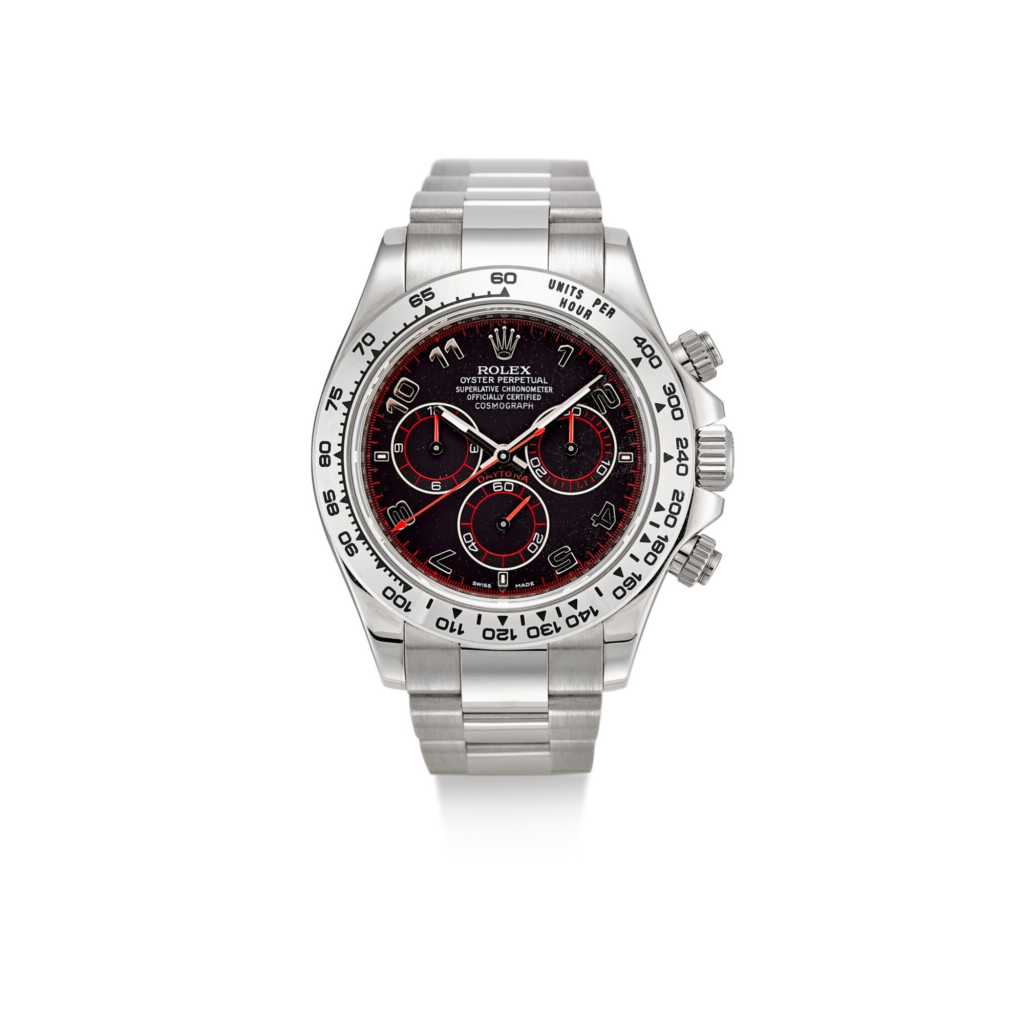 ROLEX | COSMOGRAPH DAYTONA, REFERENCE 116509 A WHITE GOLD CHRONOGRAPH WRISTWATCH WITH BRACELET, CIRCA 2006