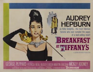 View 1. Thumbnail of Lot 53. Breakfast at Tiffany's (1961) poster, US.