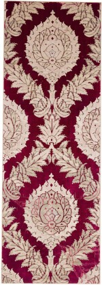 A VOIDED SILK VELVET METAL-THREAD (CATMA) PANEL WITH LOTUS BLOSSOMS, ITALY, 16TH CENTURY