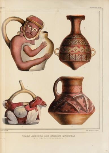 View 1. Thumbnail of Lot 137. ORBIGNY. Voyage dans l'Amérique Méridionale... Paris et Strasbourg, 1834-1847.9 vol in-4. Demi-rel. de l'ép. .