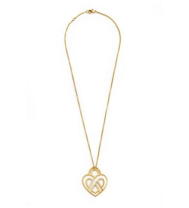View 2. Thumbnail of Lot 121. Poiray, Diamond necklace [Collier diamants], 'Coeur entrelacé'.