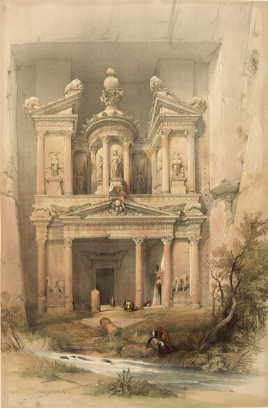 View 1. Thumbnail of Lot 150. ROBERTS   The Holy Land, 1842-1849, 3 volumes, deluxe edition.