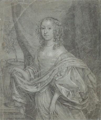 View 1. Thumbnail of Lot 38. Portrait of Juffrouw Louisa de Vries of Dordrecht.