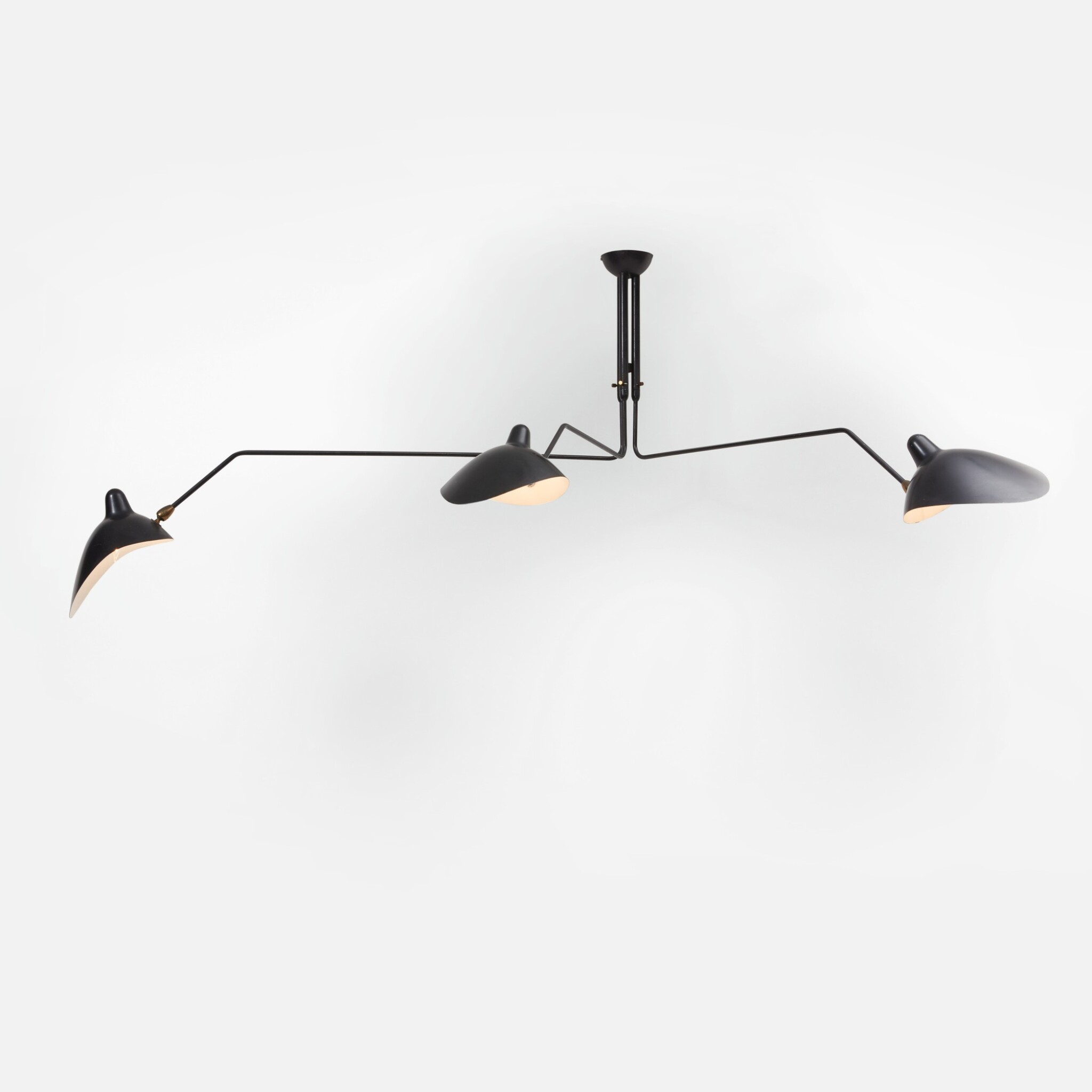 View full screen - View 1 of Lot 88. Three-Arm Ceiling Light.