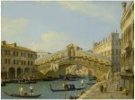 GIOVANNI ANTONIO CANAL, CALLED CANALETTO | VENICE, A VIEW OF THE GRAND CANAL LOOKING NORTH TOWARDS THE RIALTO BRIDGE