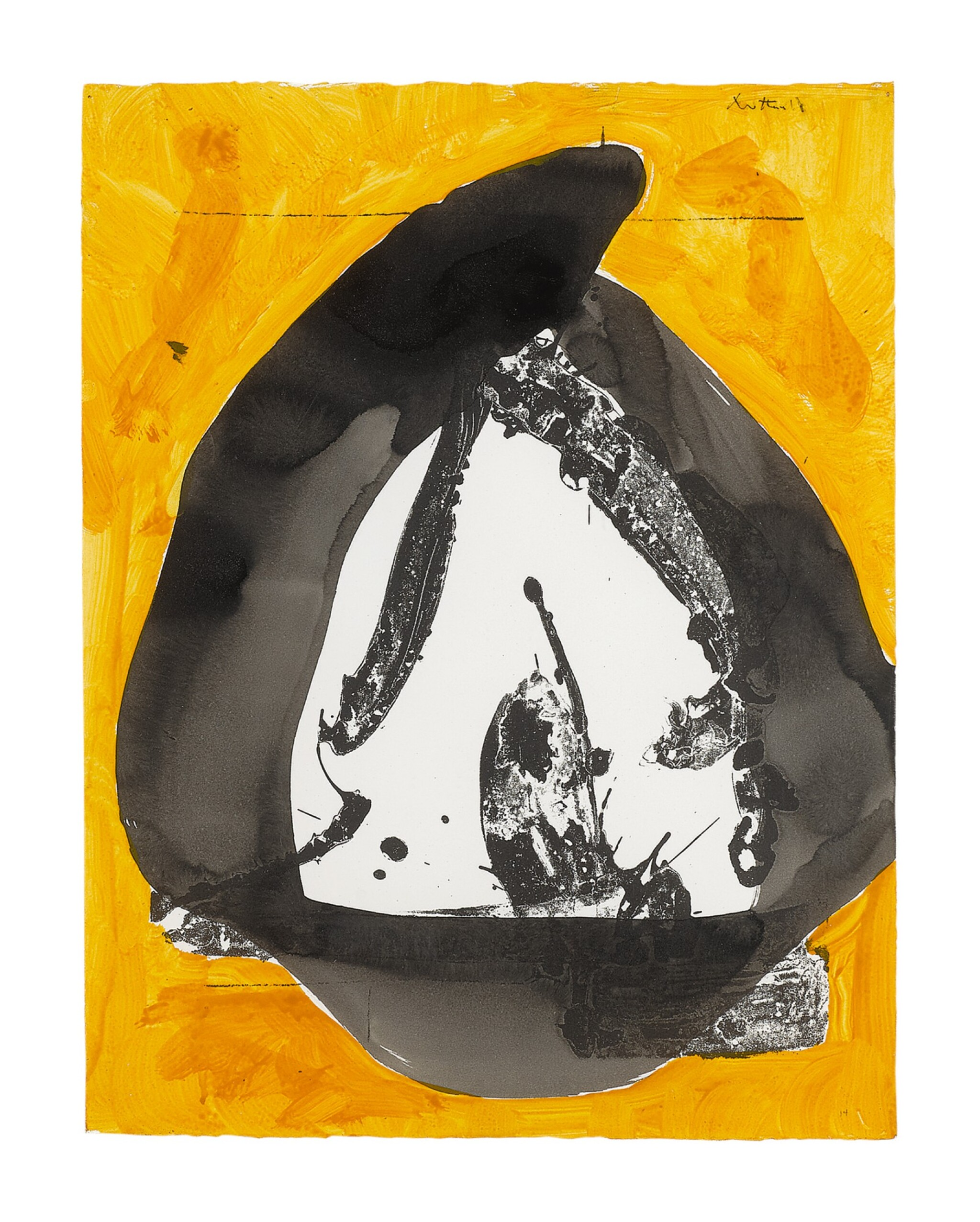 ROBERT MOTHERWELL | YELLOW AND BLACK (THE BASQUE SERIES)