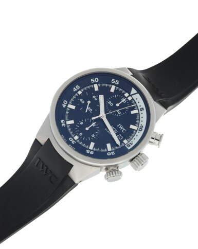 View 4. Thumbnail of Lot 87. IWC   REFERENCE 3719 AQUATIMER A STAINLESS STEEL AUTOMATIC CHRONOGRAPH WRISTWATCH WITH DAY AND DATE, CIRCA 2005.