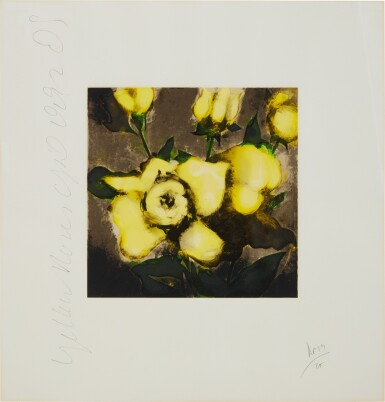 View 4. Thumbnail of Lot 163. Lemon Juice and Pears; Lilies; Roses; and Yellow Roses.