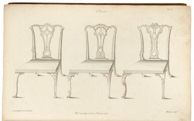 View 1. Thumbnail of Lot 33. Thomas Chippendale. The Gentleman and Cabinet-Maker's Director: London: 1762.