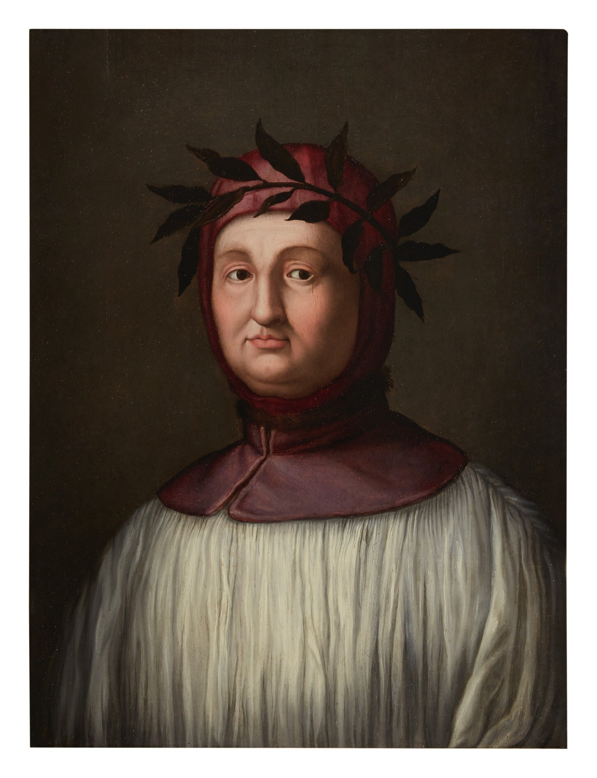 View full screen - View 1 of Lot 21. FLORENTINE SCHOOL, 16TH CENTURY | PORTRAIT OF PETRARCH.