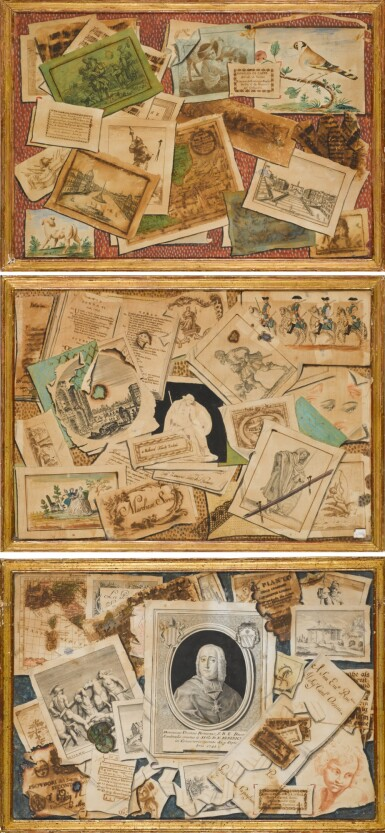 View 1. Thumbnail of Lot 35. TOMMASO CHIUSO |  A SET OF THREE TROMPE L'OEIL COMPOSITIONS.