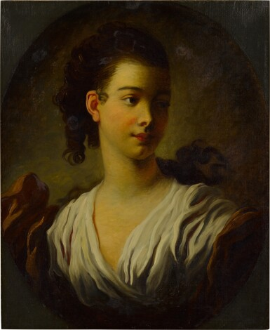 View 2. Thumbnail of Lot 84. Portrait of Madeleine Riggieri, called Adeline Colombe.