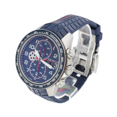 View 3. Thumbnail of Lot 230. SILVERSTONE RS A STAINLESS STEEL AUTOMATIC CHRONOGRAPH WRISTWATCH WITH DAY AND DATE, CIRCA 2015.