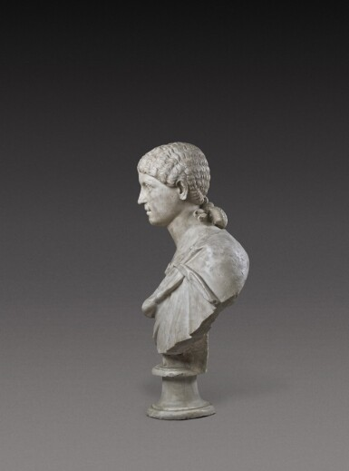 View 5. Thumbnail of Lot 72. A Roman Marble Portrait Bust of a Woman, Reign of Agrippina, circa A.D. 20-40.