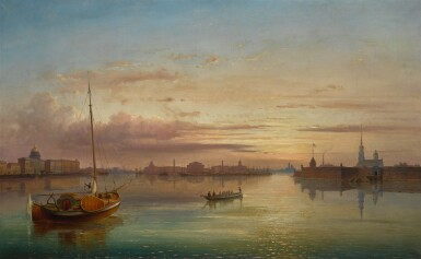 JOSEPH ANDREAS WEISS | VIEW OF THE NEVA FROM THE TROITSKY BRIDGE