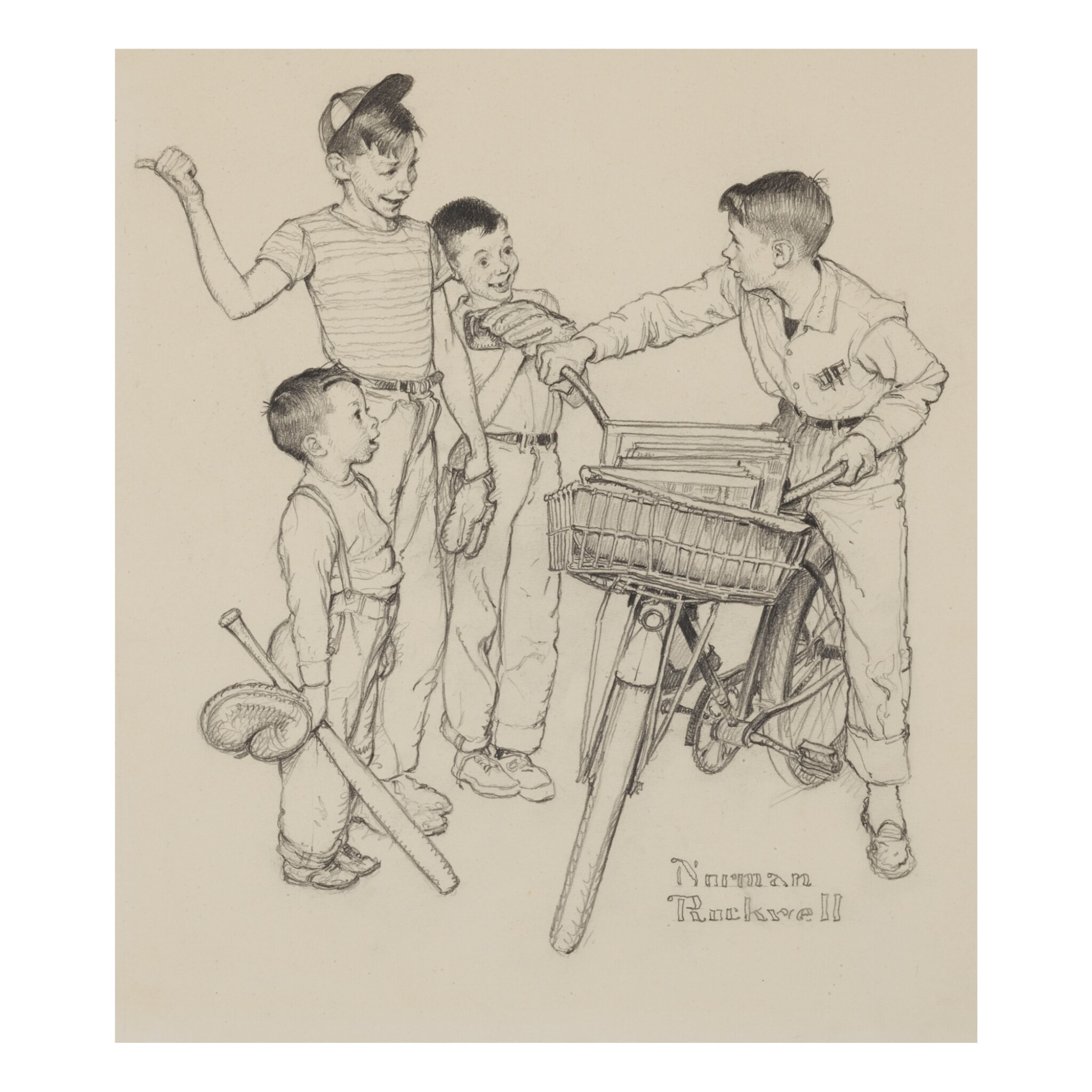View full screen - View 1 of Lot 4. NORMAN ROCKWELL | WHAT DO YOU TEACH A BOY OF TWELVE?.