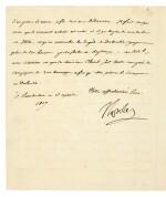 NAPOLEON I   letter signed, to Eugène de Beauharnais, about troop reinforcements in Dalmatia, 1807