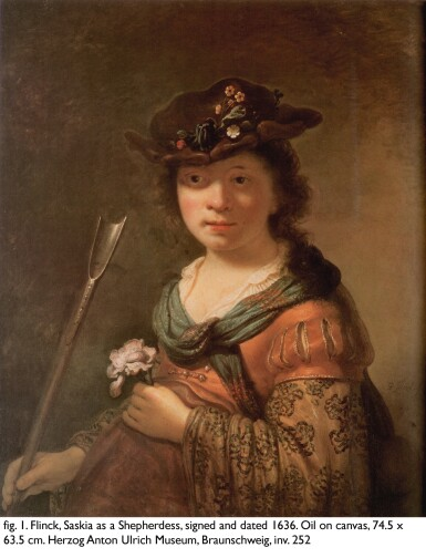 View 5. Thumbnail of Lot 124. GOVERT FLINCK  |  PORTRAIT OF A LADY IN A TURBAN, HALF-LENGTH.