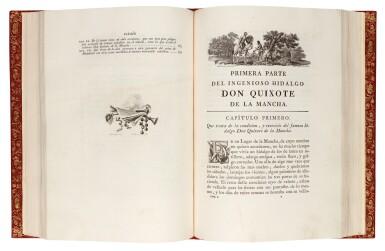 Cervantes, Don Quixote, Madrid, Ibarra, 1780, 4 volumes, modern red morocco gilt