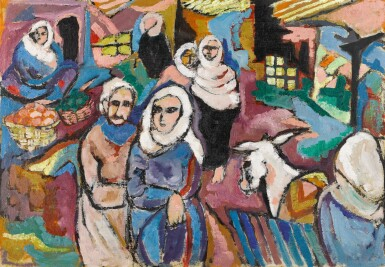 View 1. Thumbnail of Lot 29. LAILA SHAWA | THE SOUK IN GAZA.