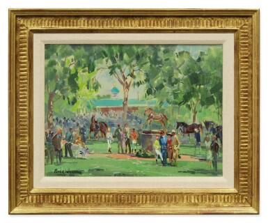 View 2. Thumbnail of Lot 3. PETER WILLIAMS | VIEW OF THE PADDOCK, AT BELMONT PARK.