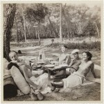 Picnic, Mougins (Nusch and Paul Eluard, Roland Penrose, Man Ray and Ady Fidelin)