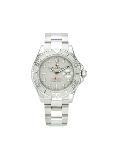 ROLEX | REF 16622 YACHT-MASTER, A STAINLESS STEEL AUTOMATIC CENTER SECONDS WRISTWATCH WITH DATE AND BRACELET CIRCA 2003